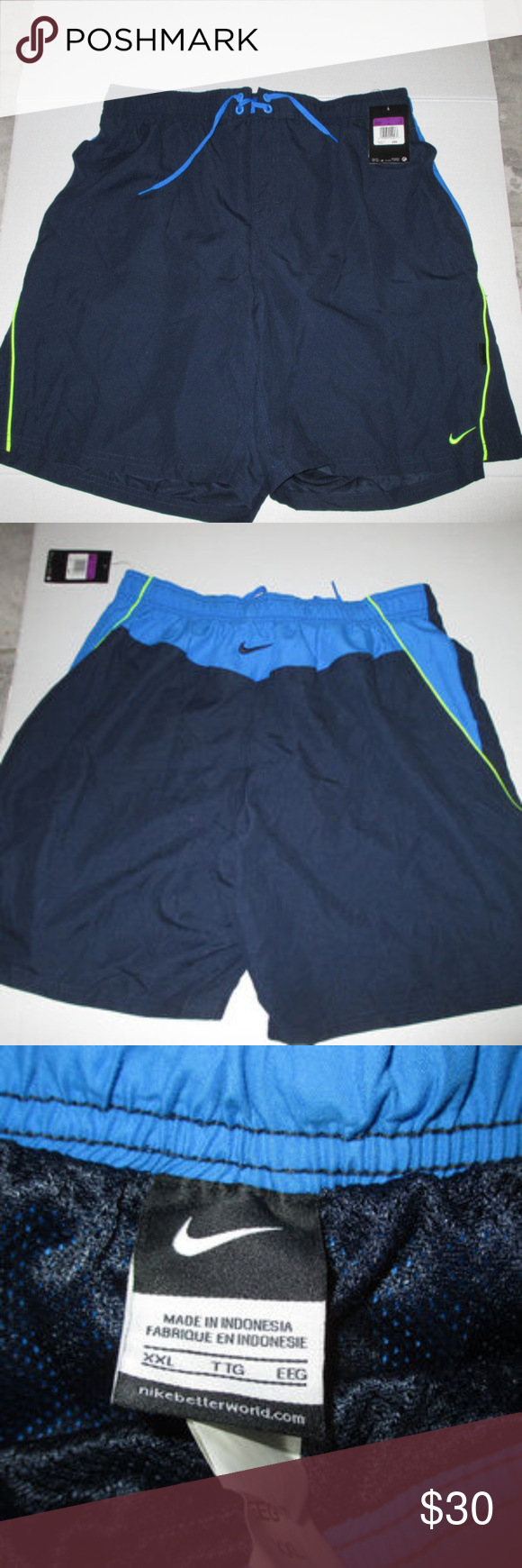 503564cd9f Nike XXl bathing suit mens Nike Sheds Water bathing trunks brand new Nike  Swim Swim Trunks
