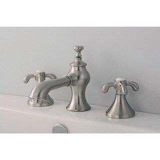 Photo of Country Cross Widely used bathroom fitting (satin nickel), Kingston Brass