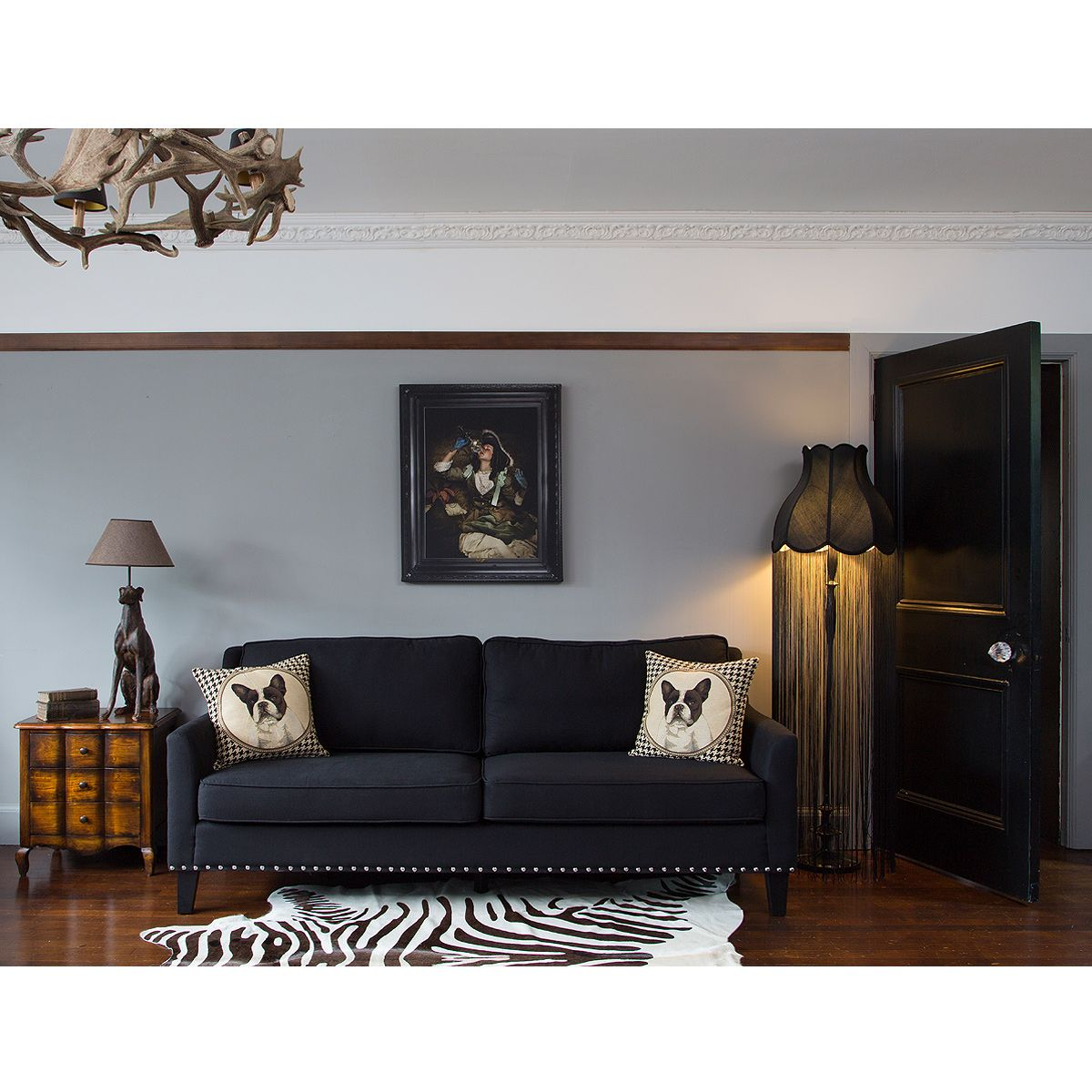 Bigwig Studded Black Sofa by The French Bedroom Company | Our French ...