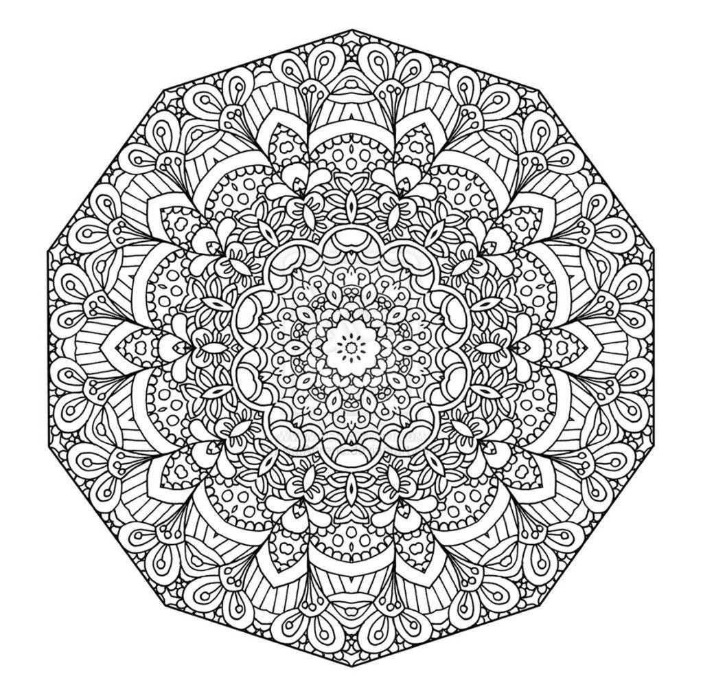 Mandalas et coloriages abstraits imprimables pour soulager le stress et aider à méditer