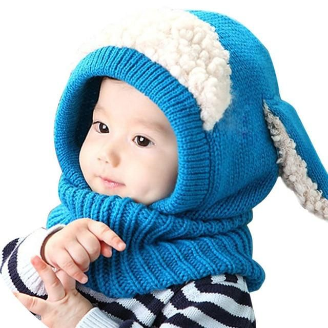 Boy's Scarves Apparel Accessories New Winter Kids Girls Boys Warm Woolen Coif Hood Scarf Caps Breathable Touca Inverno Scarves Caps Winter Warm Cap Lamb