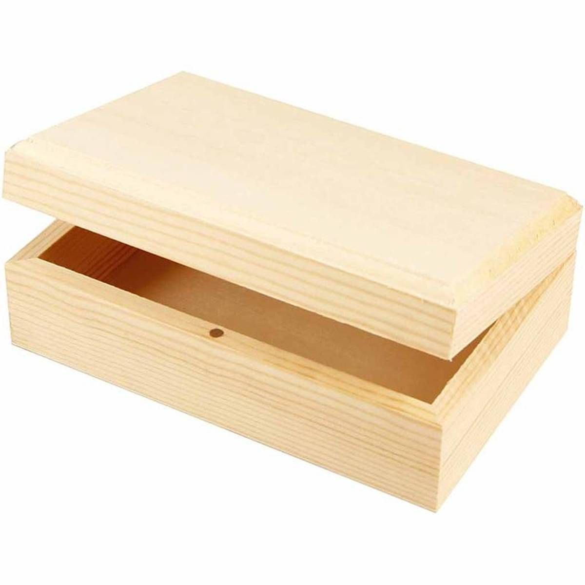 Wooden Pine Jewellery Box 14 X 5 X 9 Cm Hobbycraft Diy Ideas