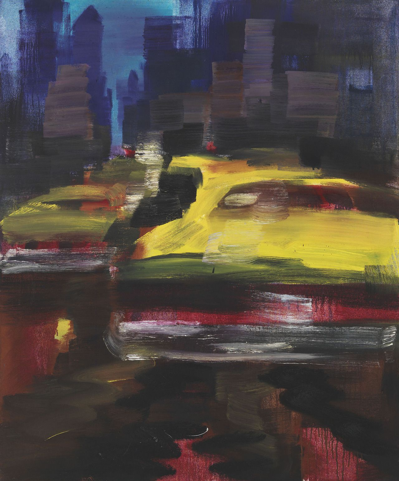 Rainer Fetting (German, b. 1949), Taxis, 1991. Oil on canvas, 153 x 127 cm.
