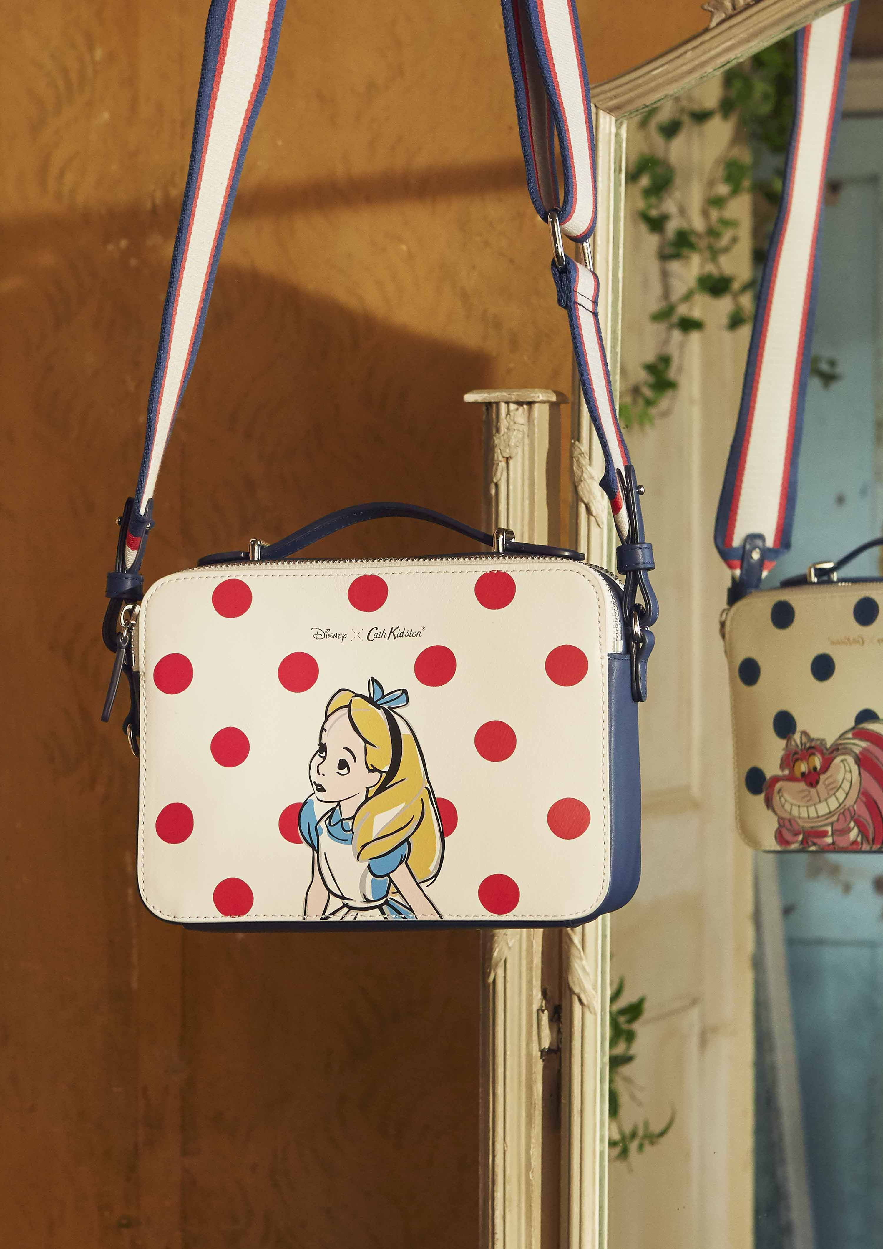 4bda1d3f0 Our medium lozenge bag is the perfect box sized bag. Featuring Alice in  Wonderland and The Cheshire Cat on our iconic ...