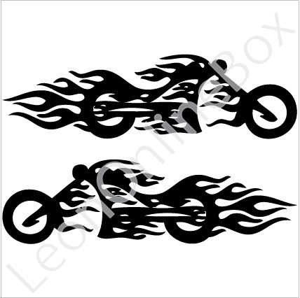 Motorcycle Racing Decals Custom Stickers On Motorcycle Flame - Custom vinyl decals for motorcycles