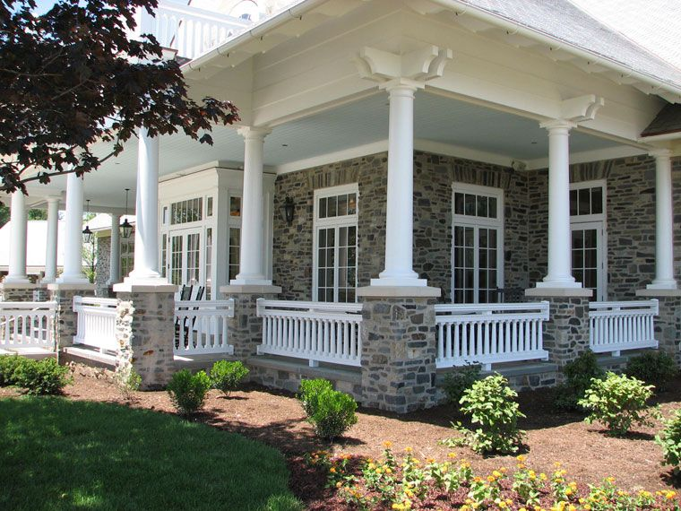 Photo gallery business and commercial installations of for Wrap around porch columns