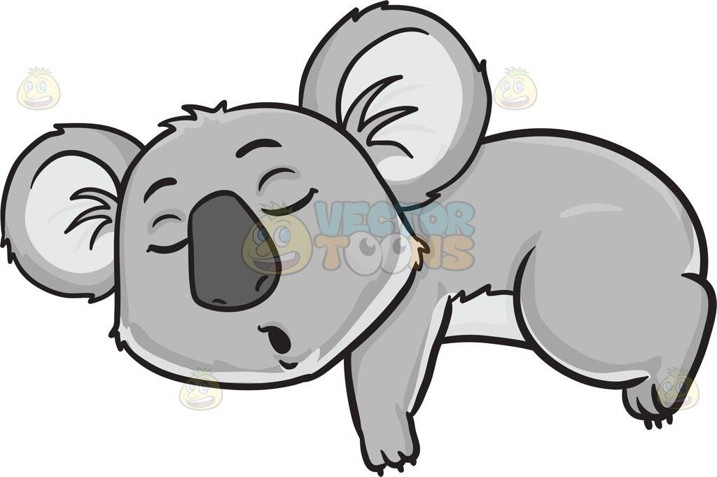 a sleeping koala bear rh pinterest com sleeping teddy bear clipart Sleeping Bear Clip Art Black and White