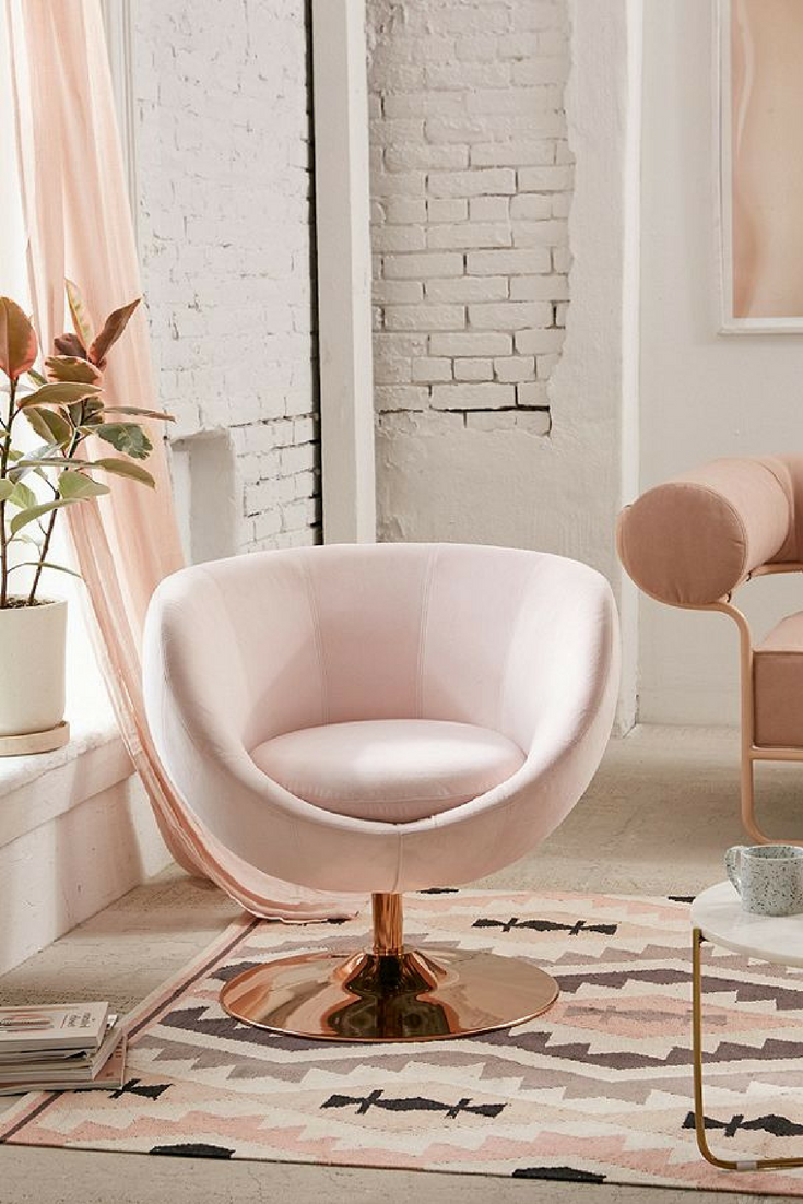 Swivel Vanity Chair Round Out Your Living Space With This Faux Suede Chair With A Luxe