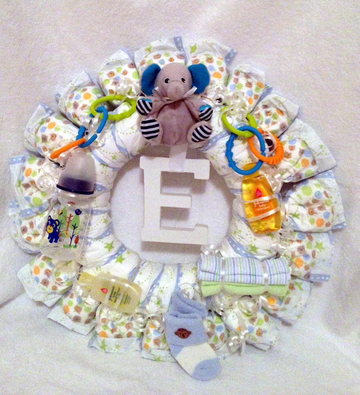 Diaper Wreath. $35.00, via Etsy.