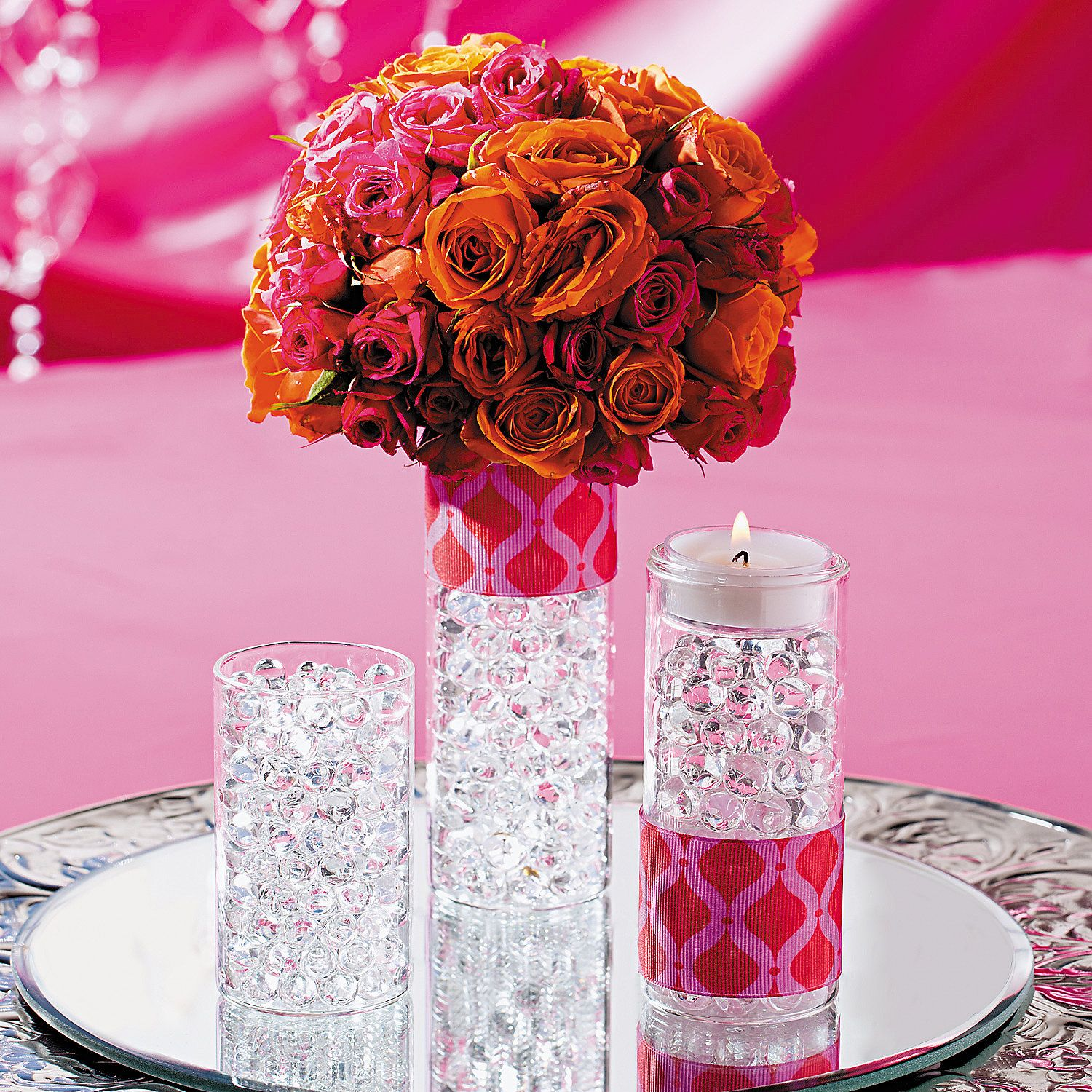 Elegant Flower Centerpiece. Create this stunning and colorful DIY ...