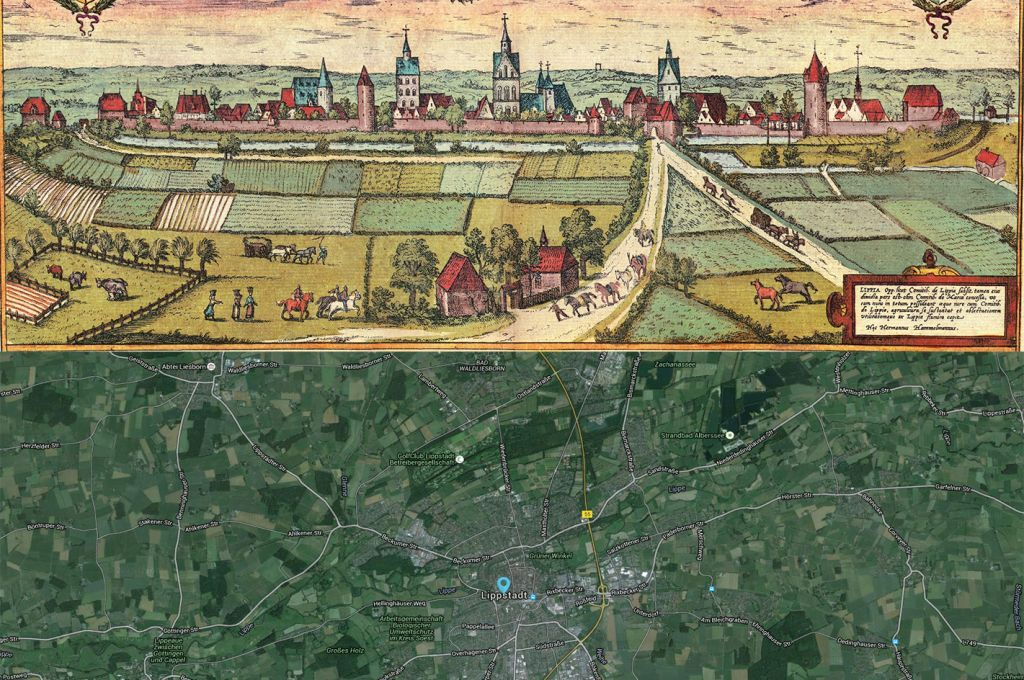 Lippstadt Germany Map Then And Now Maps Pinterest - Germany map then and now