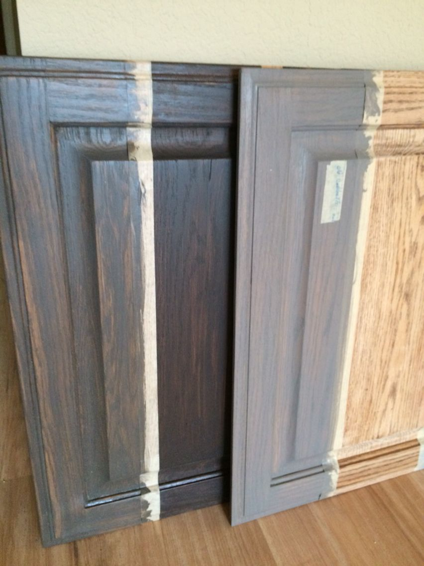 Grey Stain Oak Cabinets Diy Google Search In 2020 Staining Cabinets Stained Kitchen Cabinets Restaining Kitchen Cabinets