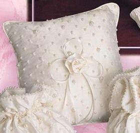 Pearled Silk Ring Pillow #timelesstreasure