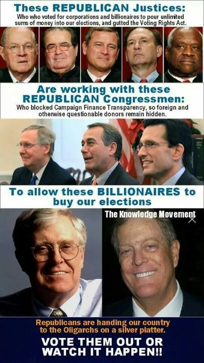 PLEASE TAKE THE TIME TO READ: It's seems hard to believe that this is true in this day and age. We have sat on the couch and let our democracy be bought up by billionaires and still we don't vote. - - - - - - https://www.facebook.com/notes/bruce-bacon/americas-conservative-road-to-destruction-a-brief-history/10152214333673017