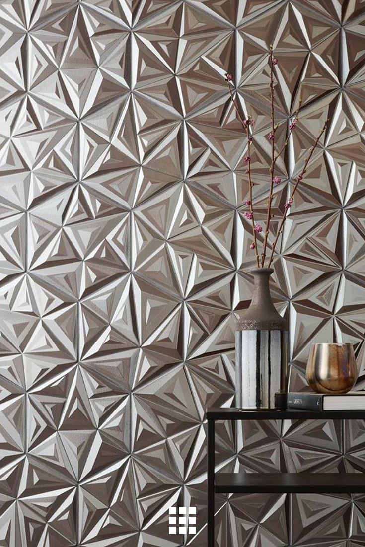 Three Dimensional Tiles In Geometric Patterns Throw High Style Into Sharp Relief Archdigest Dimensional Tile Porcelain Wall Tile Geometric Tiles