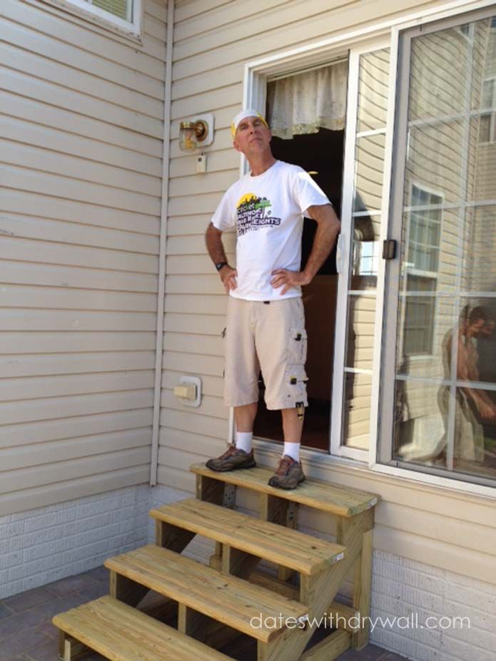 Free Standing Stairs Patio Stairs Diy Stairs Wooden Steps   Ready Made Outdoor Stairs