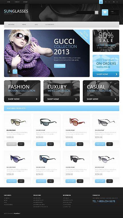 Prestashop Store Fashion Style Accessories Sunglasses Trend Vogue Craze Couture Webs Prestashop Themes Fashion Website Design Web Design Inspiration
