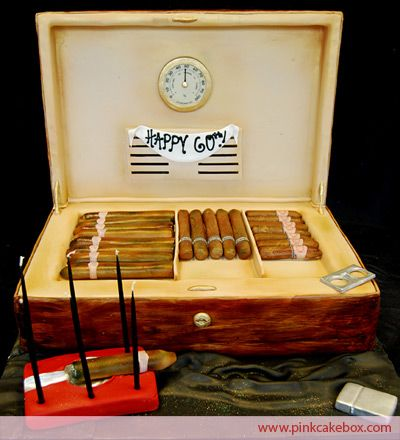 Cigar Humidor 60th Birthday Cake 187 Birthday Cakes Yummy