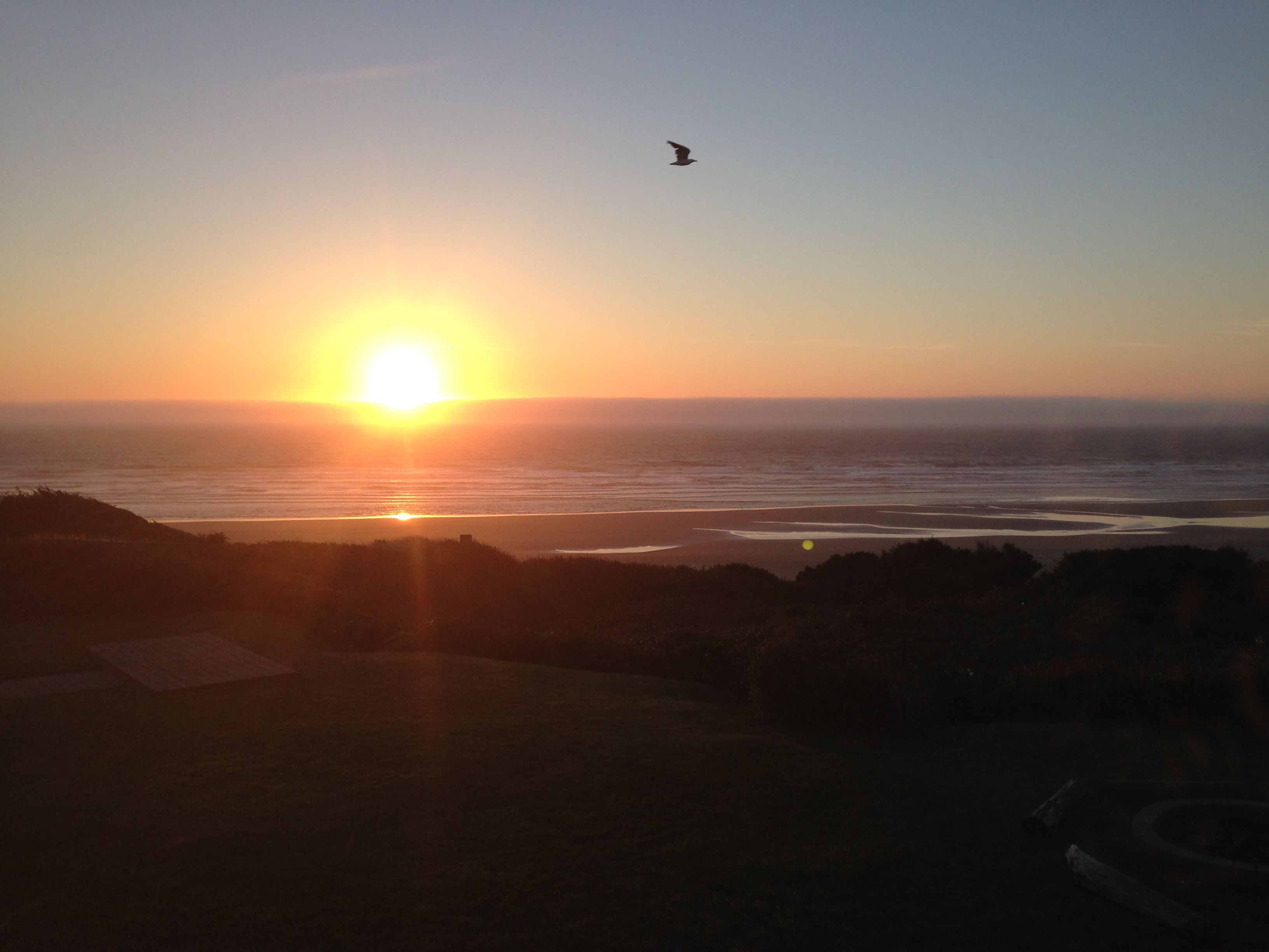 this is actually taken with my iphone. beautiful sunset somewhere along the west coast, USA