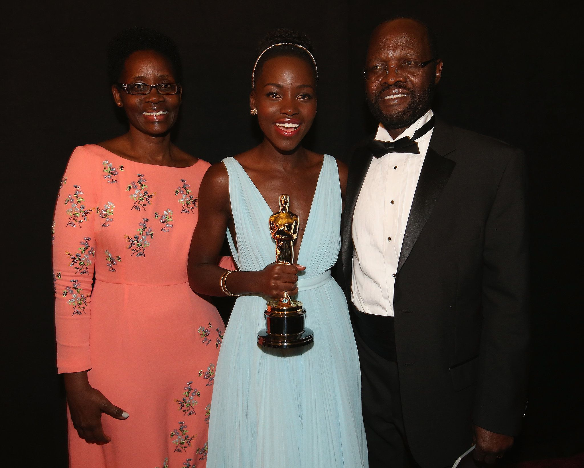 Lupita nyong o celebrated her best supporting actress oscar win with her proud parents