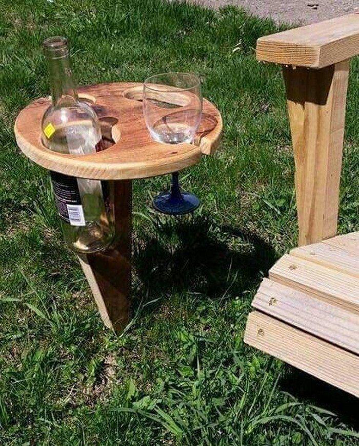 Diy Portable Wine Table For Picnics Wein Tisch Wein Halter Flaschen Regal