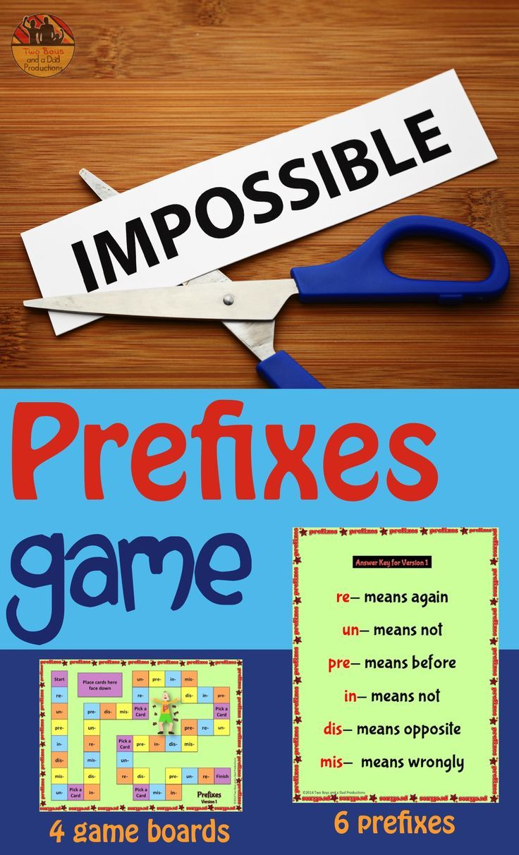 Prefix Games with Four Versions | Prefixes, Students and Learning