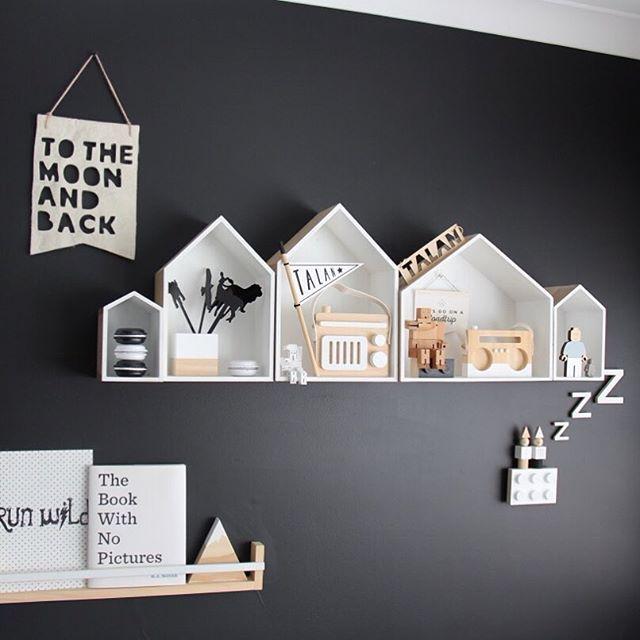 Estantes casitas + biblioteca | Inspiración: paredes | Pinterest ...