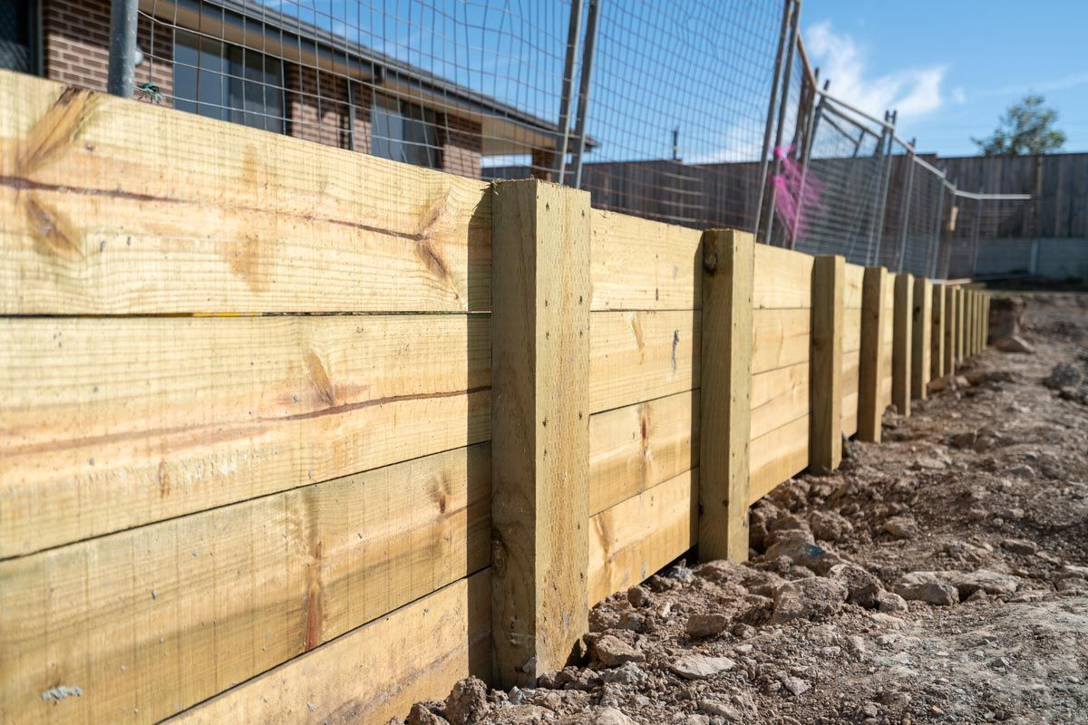 Retaining Wall Made Of Wood Timber Concrete Retaining Walls Retaining Wall Cost Retaining Wall