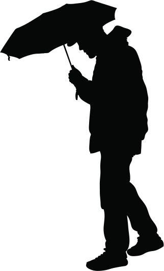 vectores libres de derechos umbrella man personas 2