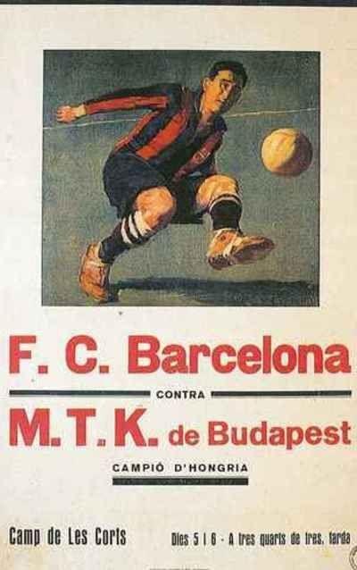 908b8efb8 F.C. Barcelona - M.T.K de Budapest #fcbarcelona #poster #vintage ...