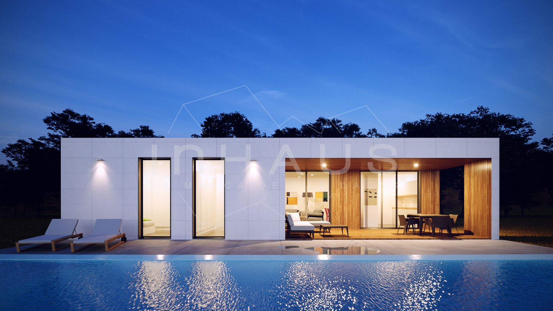 Casa modular de hormig n modelo chipiona 3d 1p inhaus chalet bayas pinterest casas - Casas en chipiona ...