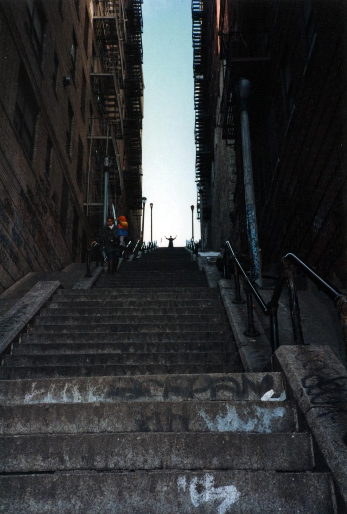 1993 picture of me atop the famous stairs in Joker.https