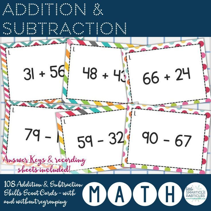 Addition & Subtraction - Skills Scoot | Math