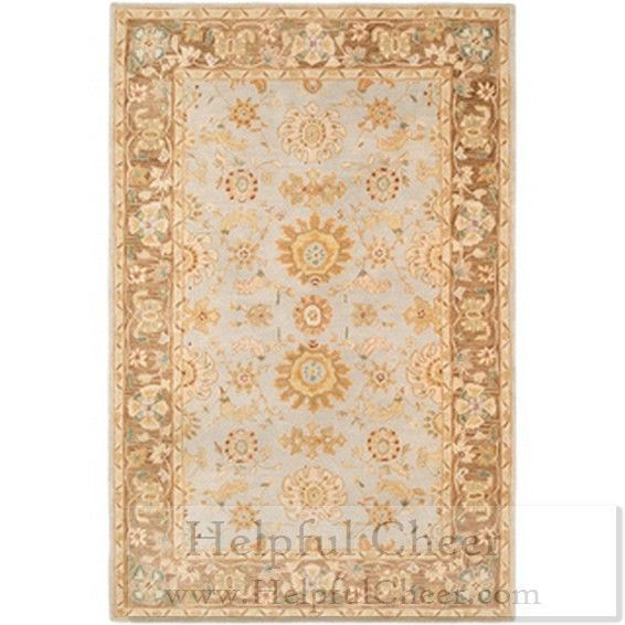 Safavieh Hand-made Antiquities Teal Brown Hand-spun Wool Rug 6 x27 x 9 x27 - at