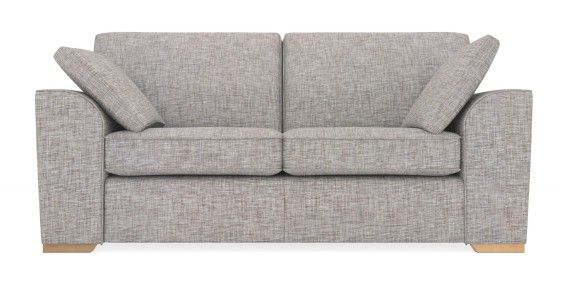 Buy Stamford Medium Sofa 3 Seats Boucle Blend Light Dove Large Square Angle Snuggle Seat Seating Stamford