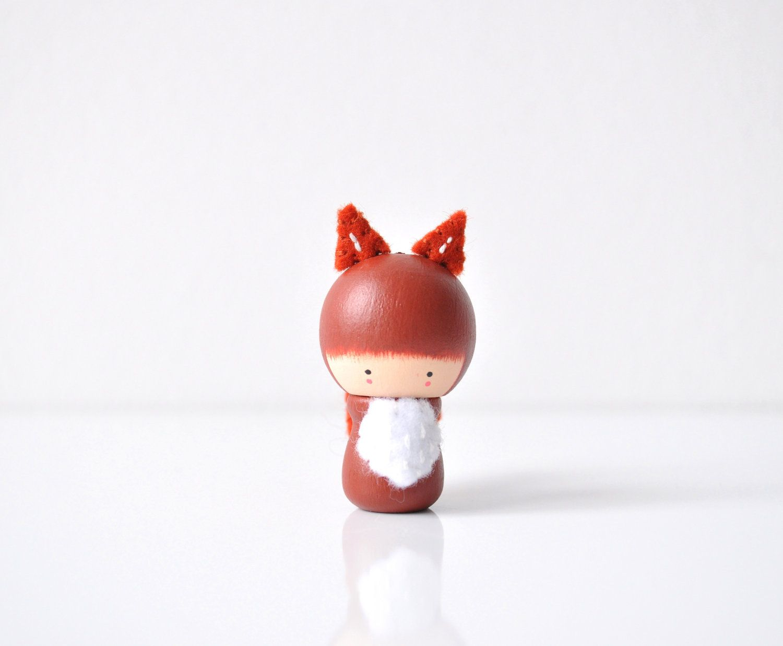 Mister Fox Wooden Friend by TheCupcakeGirls on Etsy