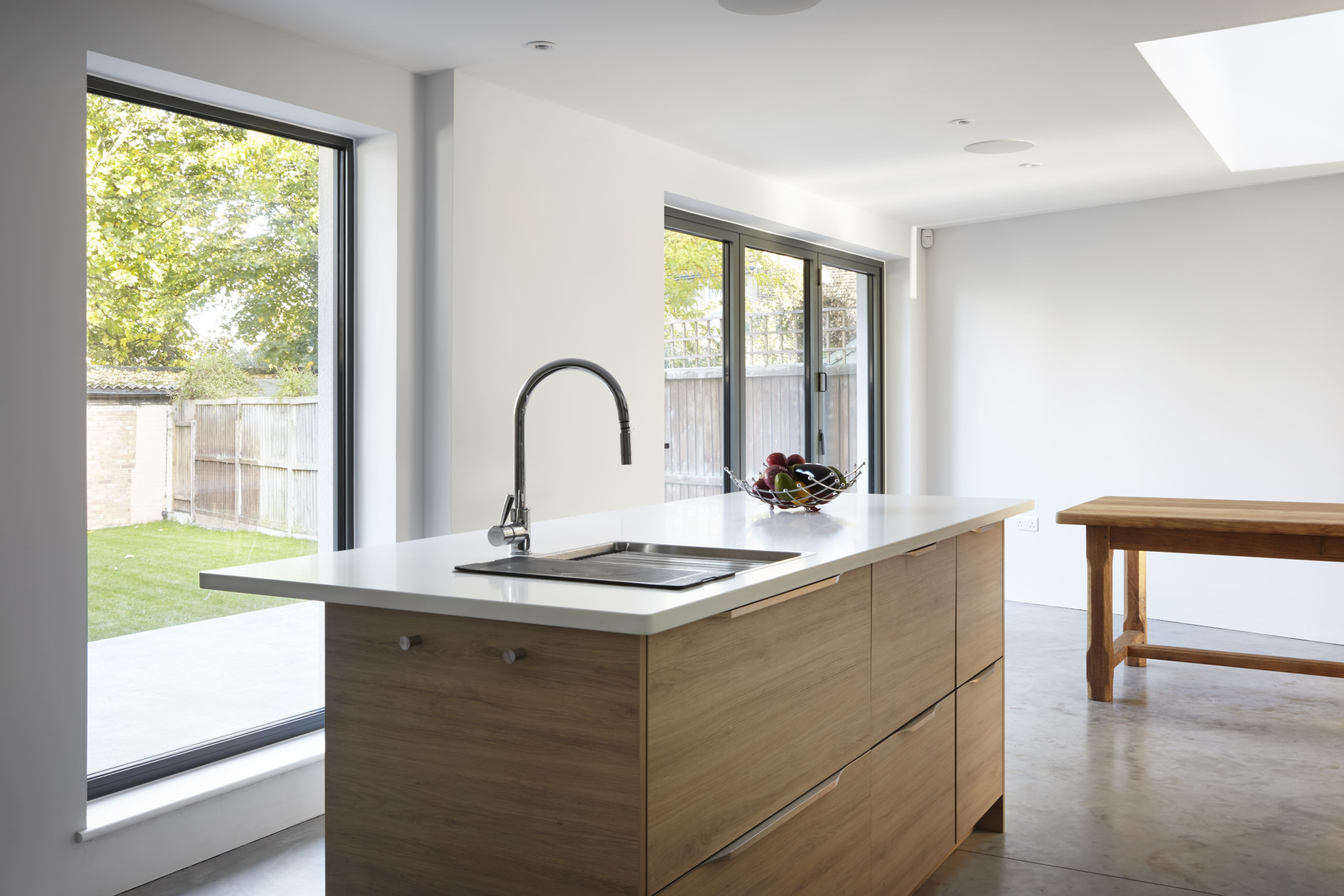 The kitchen has a simplistic style, designed by Joe. Get matched ...