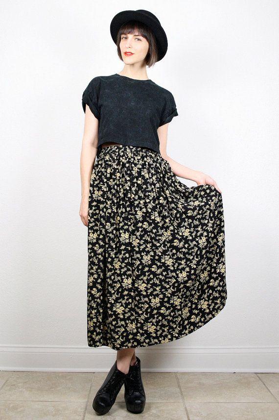 Vintage 90s Skirt Grunge Skirt Midi Skirt By Shoptwitchvintage Vintage Etsy 90s 1990s Grunge Midi Skirt Grunge Skirt 90s Fashion Outfits Fashion Outfits