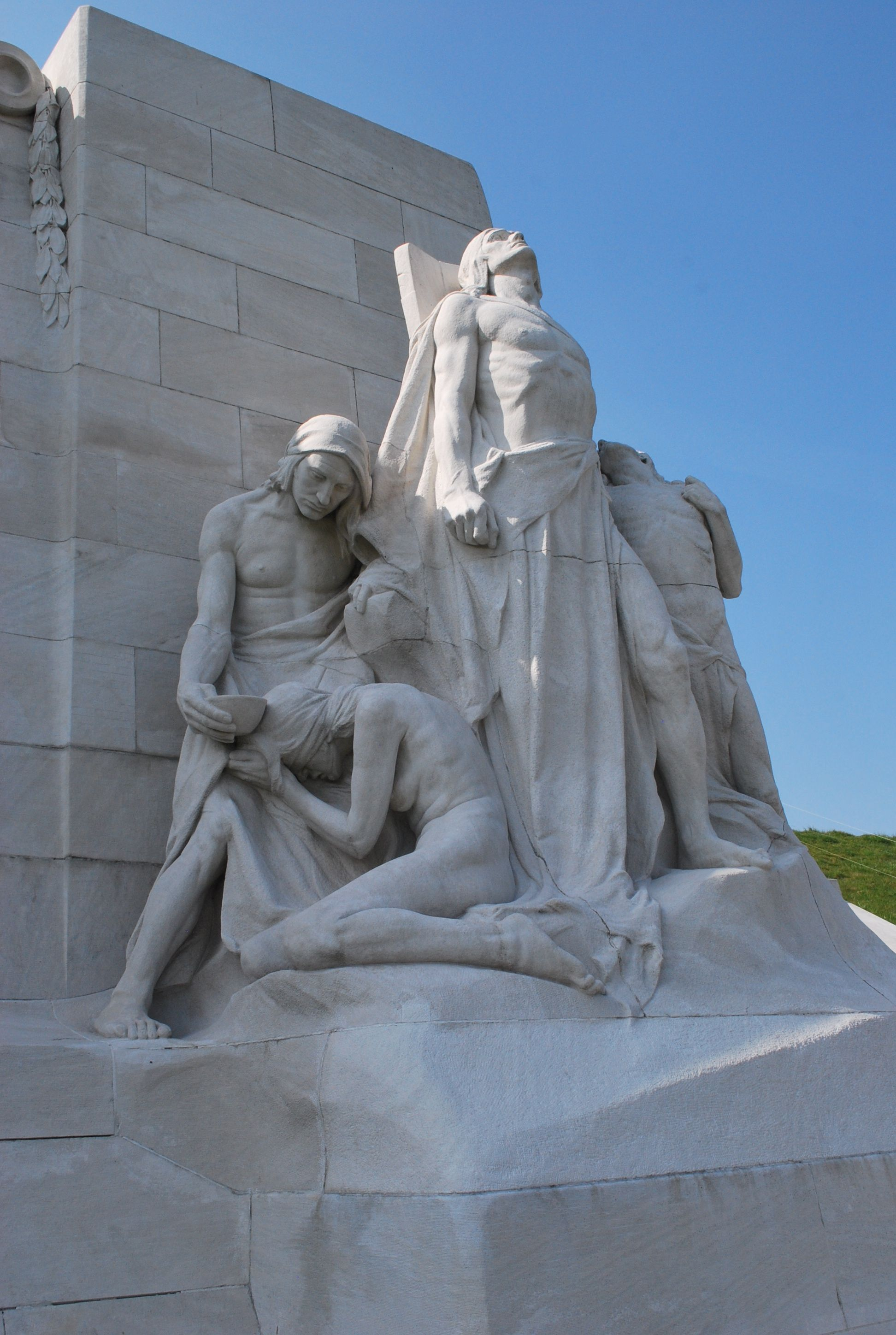 One of two groups of Defenders (Sympathy of the Canadians for the Helpless) at Canadian National Vimy Memorial