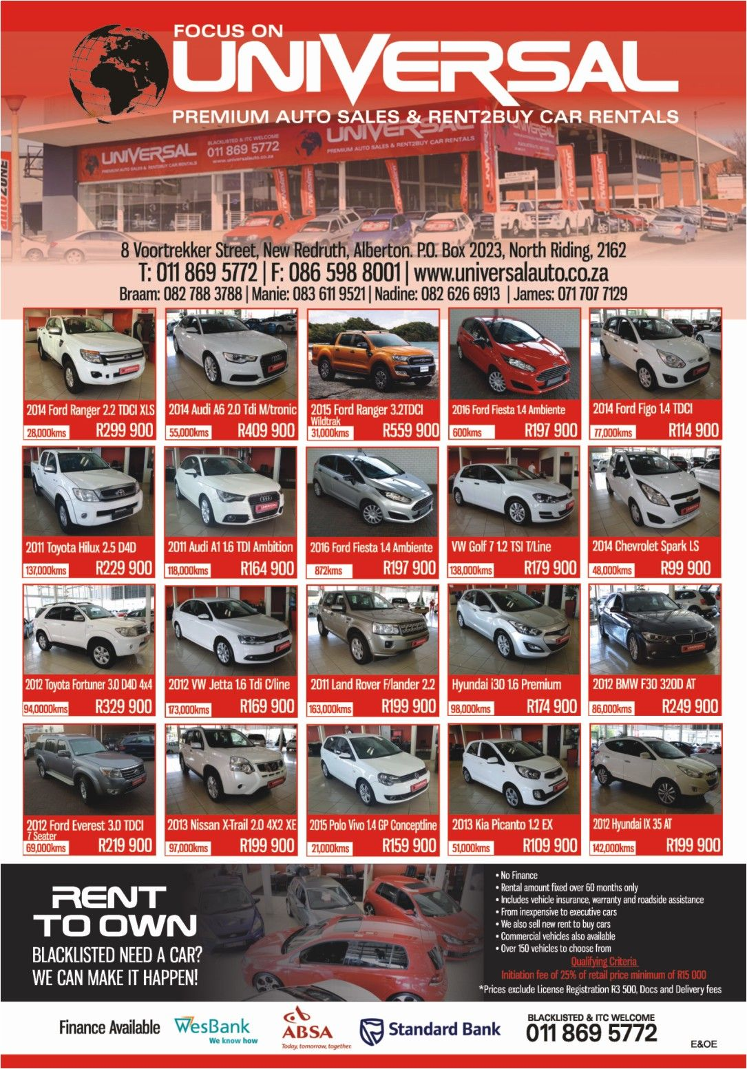 Universal #Auto - #Blacklisted & #ITC Welcome! Premium Auto Sales ...