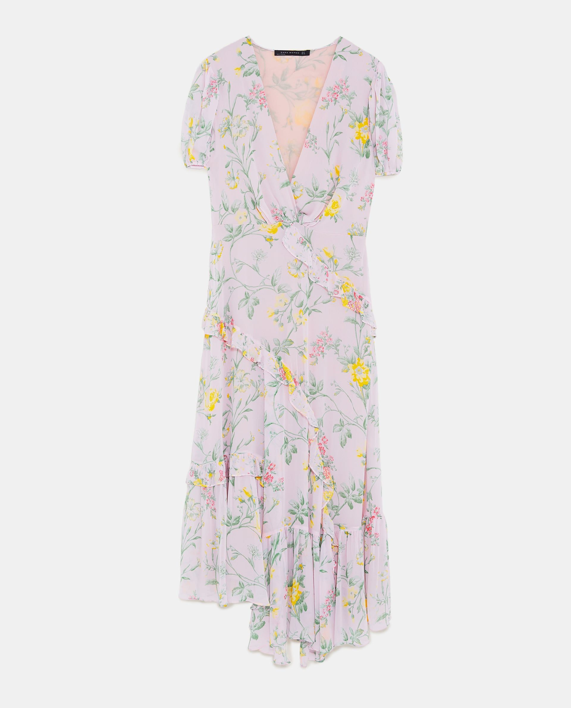 57931fa3 Image 8 of RUFFLED FLORAL PRINT DRESS from Zara Zara Trends, Volants, Ruffle  Dress