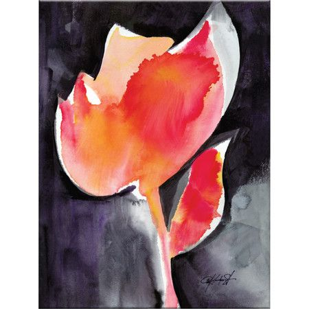 Bring artistic flair to your home with this bold canvas print. Featuring an eye-catching floral design, it's perfect above the mantelpiece or completing your...