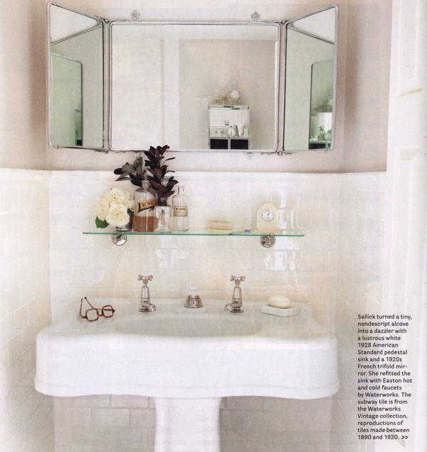 bathroom For the Home Pinterest Intérieur minimaliste, Les - carrelage salle de bain petit carreaux