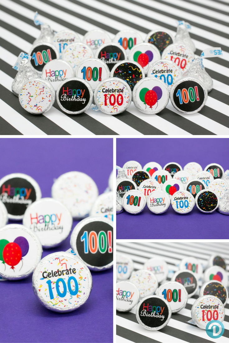 Having A 100th Birthday Party Celebration Looking For Unique And Yummy Favor Or Table Decoration Everyone Will Love Make Your Own DIY Hershey