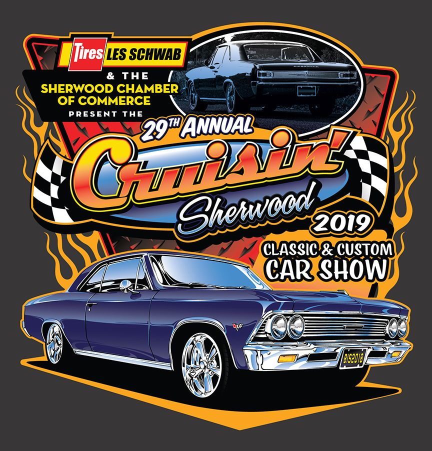 Earlier This Year I Wrapped Up The Design For This Year S Cruisin Sherwood Car Show In Sherwood Oregon Then I Take My S Automotive Illustration Car Show Car