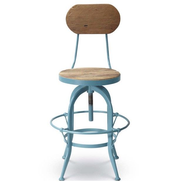 Bar Stools With Back | Blue Bar Stools | Counter Stools | Counter Chairs |  Metal
