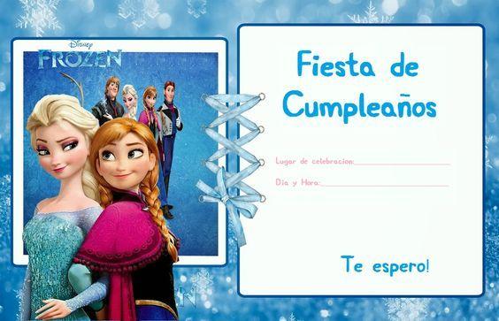 Invitacion De Frozen Para Editar 3 Invitaciones Cumpleaños
