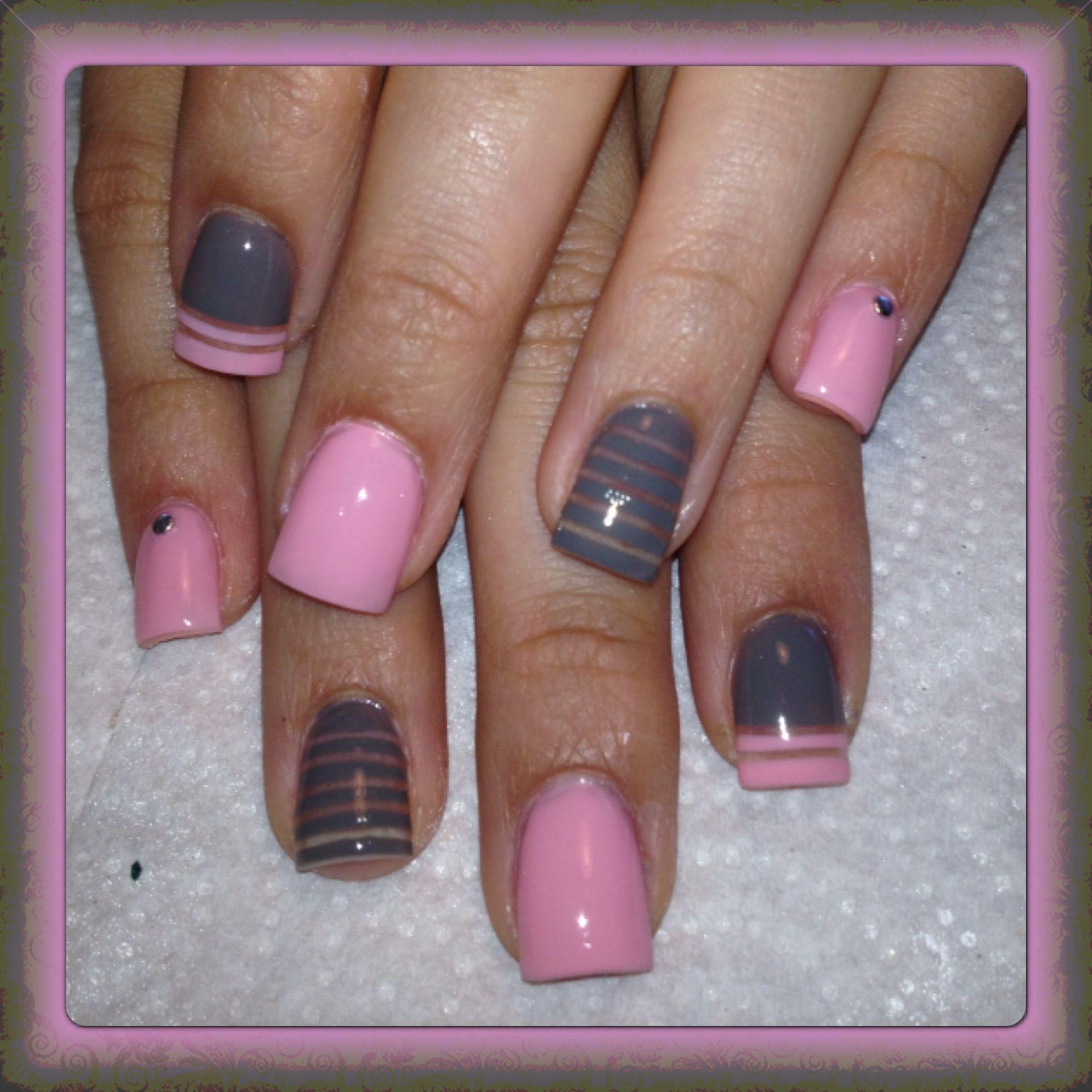 pink and gray nails | my passion. | pinterest | gray nails