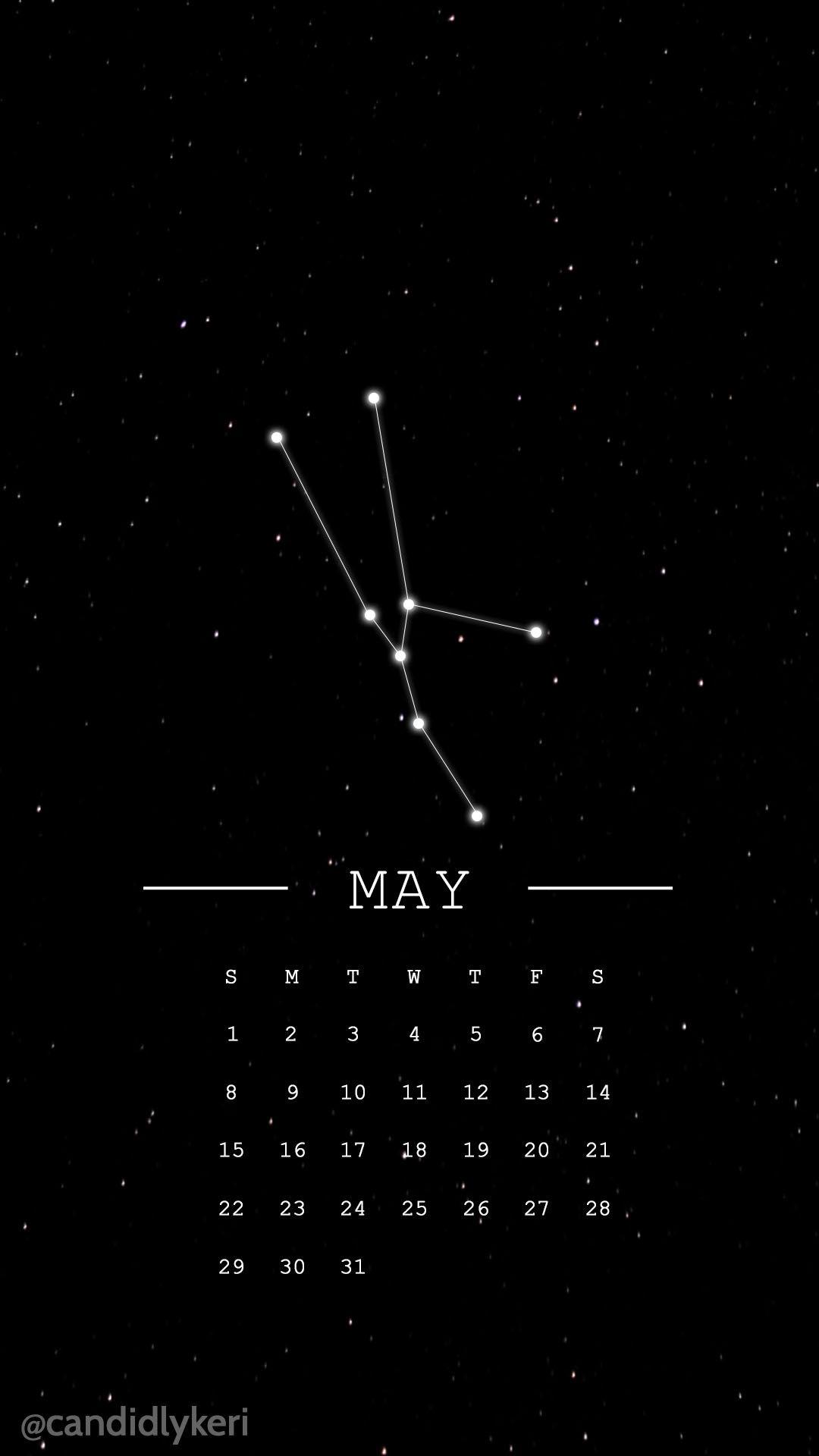 Taurus Constellation Horoscope May 2016 Calendar Wallpaper