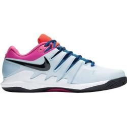 Photo of Nike Men's Tennis Shoes Clay Air Zoom Vapor X Clay, Size 44½ In Half Blue / black-White Laser